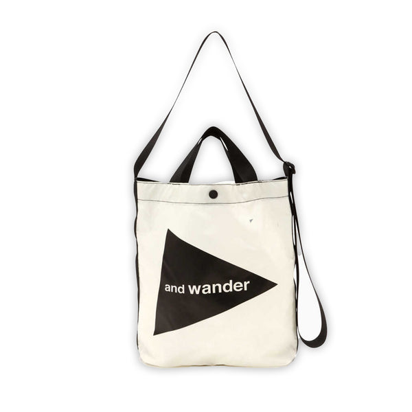 Cordura Logo Tote Bag in White