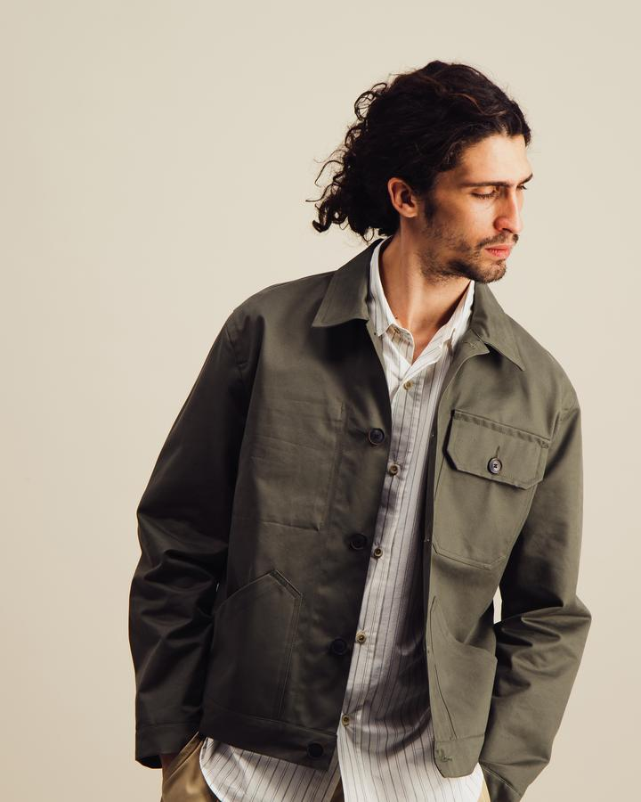 Service Jacket in Olive Green