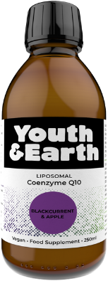 Liposomal Coenzyme COQ10 200mg - Blackcurrant and Apple Flavour 250ml - youthandearth
