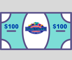 $100 Flying Colours in-store gift certificate