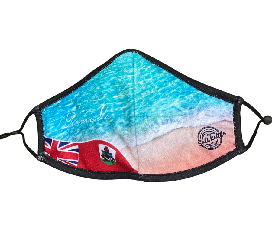 Bermuda Beach & Flag mask