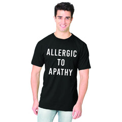Allergic To Apathy Black Men's T-Shirt Organic Cotton Bamboo