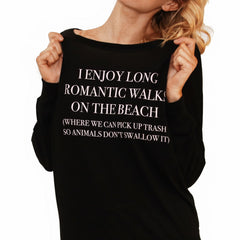 Walks On The Beach Flowy Pullover