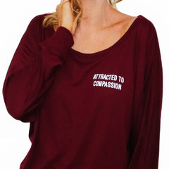 Attracted To Compassion Flowy Pullover