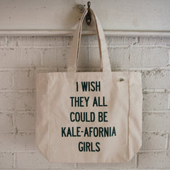 Kale-Afornia Girls Recycled Cotton Tote
