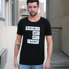 Animals Are Not Fabric Unisex Tee