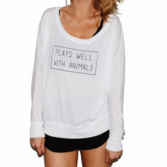 Plays Well With Animals Flowy Pullover