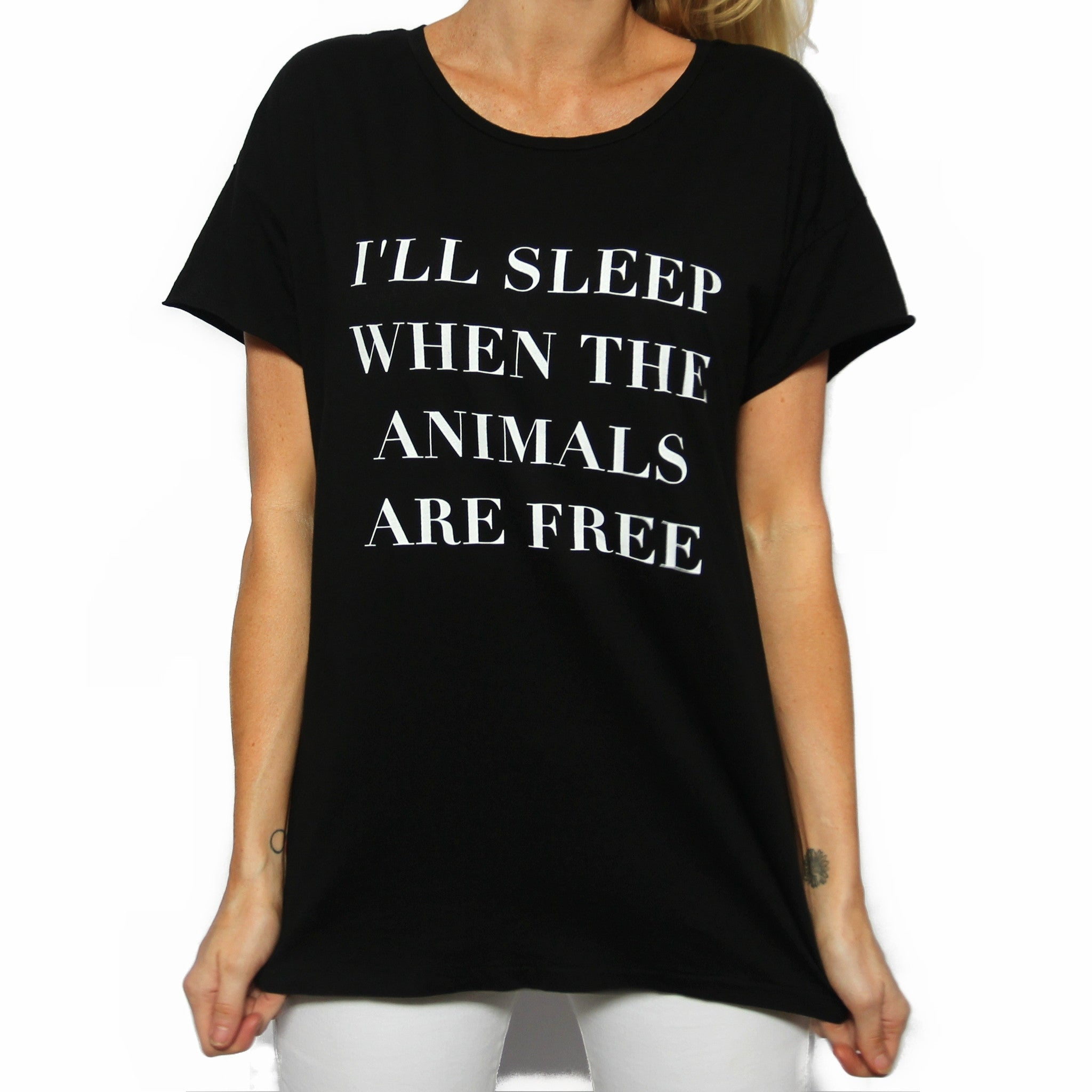 When The Animals Are Free Rocker Tee