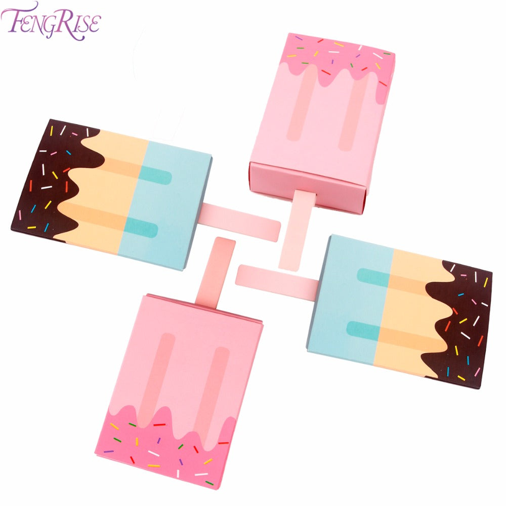 FENGRISE 10pcs Popsicle Shape Candy Box Baby Shower Favors Ice Cream ...
