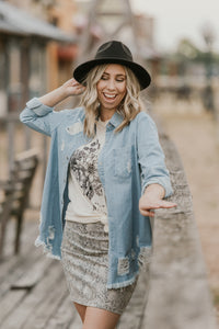 Denim Darling Button Down