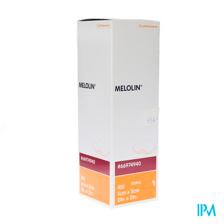 Melolin Kp Ster 5x 5cm 100 66974940