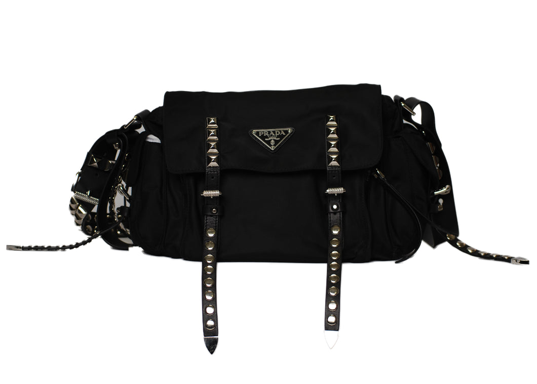 Prada Studded Messenger Bag