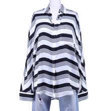 Load image into Gallery viewer, Balenciaga Striped Button-Up Shirt