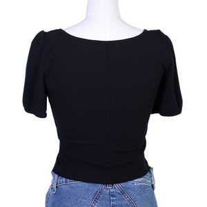 Reformation Jeans Sicily Top - Black