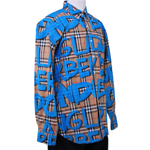 Burberry Graffiti Print Vintage Check Shirt