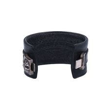Load image into Gallery viewer, Chrome Hearts Pyramid Cross Leather Cuff Bracelet