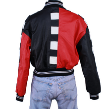 Load image into Gallery viewer, Vintage Leather Bomber Jacket