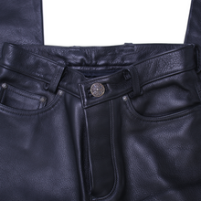 Load image into Gallery viewer, Vintage Chrome Hearts Leather Fleur Pants