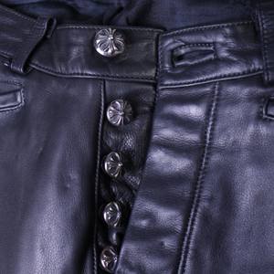 Vintage Chrome Hearts Leather Pants