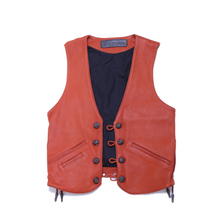 Load image into Gallery viewer, Vintage Chrome Hearts Leather Vest