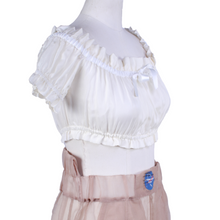 Load image into Gallery viewer, DAISY Silk Bow Crop Top