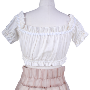 DAISY Silk Bow Crop Top