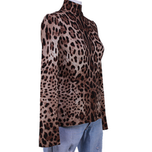Load image into Gallery viewer, Dolce & Gabbana Silk Leopard Top