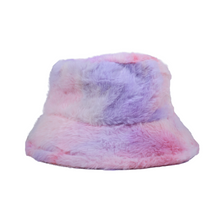 Load image into Gallery viewer, Fuzzy Bucket Hat - Pink Multi
