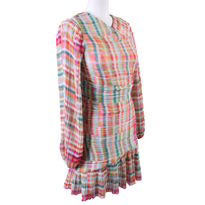 Gilner Farrar Pleated Mini Dress
