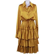 Load image into Gallery viewer, Martin Grant Ruffled Shirt Dress