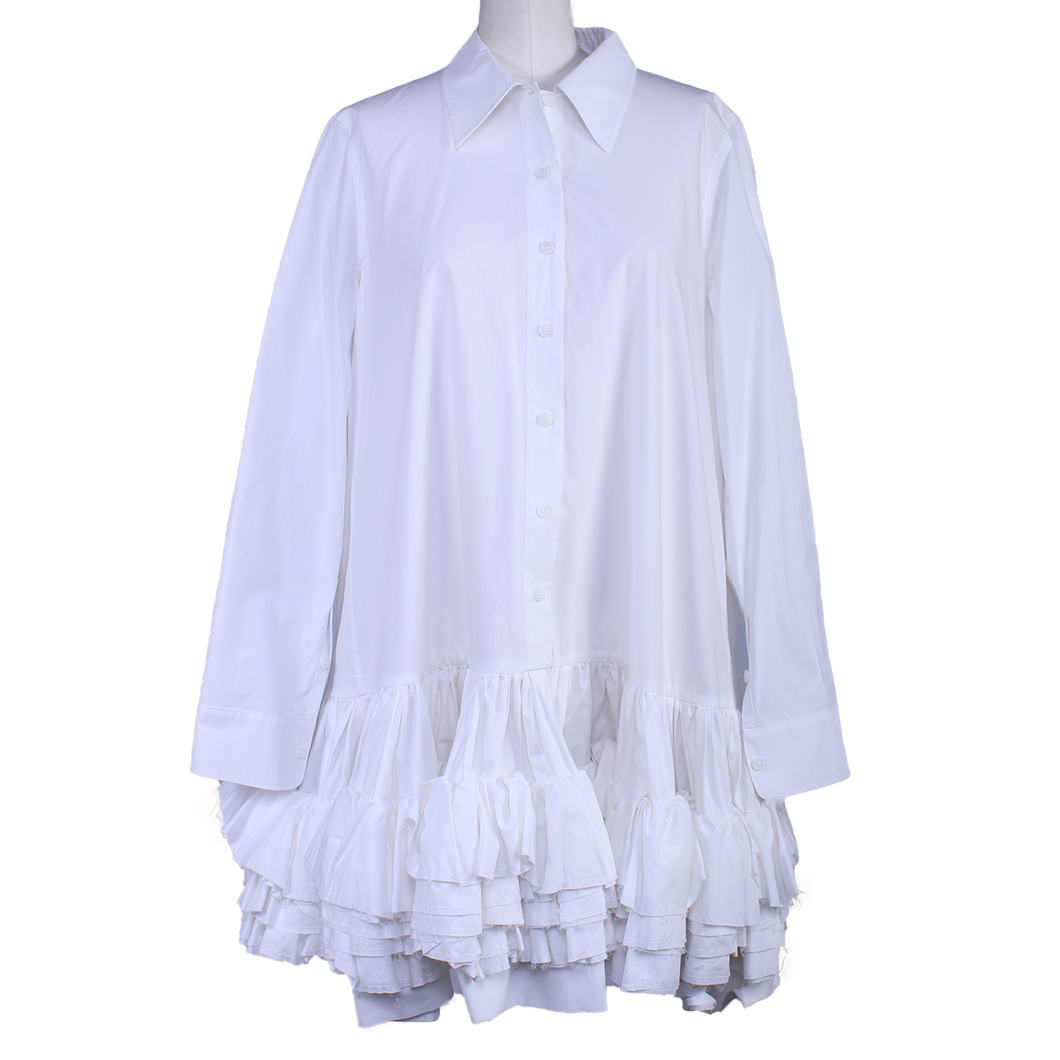 Molly Goddard Annie Ruffled Dress