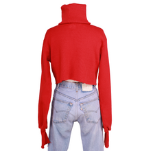 Load image into Gallery viewer, Orseund Iris Chunky Knit Turtleneck Sweater - Red