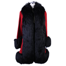 Load image into Gallery viewer, Vintage Fur Suede Coat