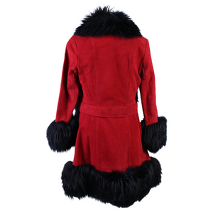 Vintage Fur Suede Coat