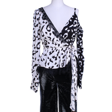 Load image into Gallery viewer, Self-Portrait Leopard Print Wrap Top