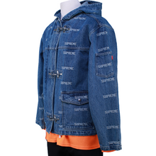 Load image into Gallery viewer, Supreme Logo Denim Turnout Jacket