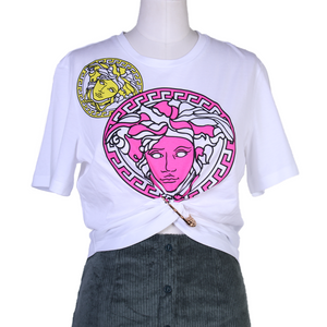 Versace Cropped Tee