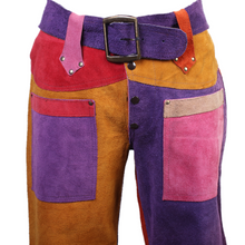 Load image into Gallery viewer, Vintage Suede Patchwork Pants