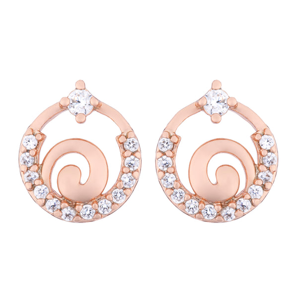Ellipse Rose Gold - Ohrstecker