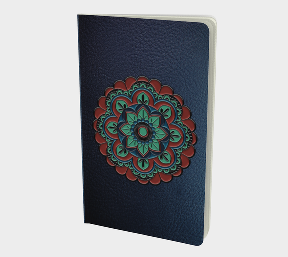 Blue Faux Leather Notebook Journal Diart