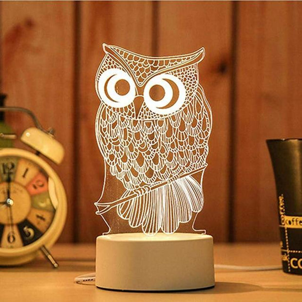 3D USB Acrylic Night Lights Desktop - Home Office Decors