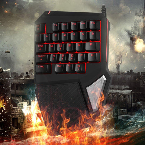 Backlit Single Hand Ergonomic Keypad - Home Office Decors