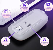 Wireless Mouse 2.4GHz USB Rechargeable - Home Office Decors