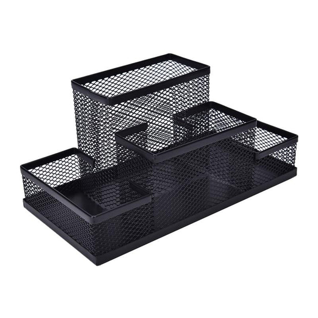 Mesh Cube Metal Stand Combination Holder Desk - Home Office Decors