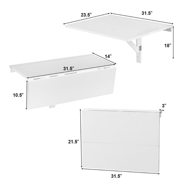 Giantex Wall-Mounted Drop-Leaf Table Folding - Home Office Decors