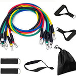 11 Piece Set Heavy Workout Exercise Yoga Resistance Bands