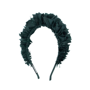 Flock Headband in Emerald Green