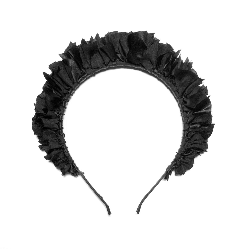 Flock Headband in Ink Black
