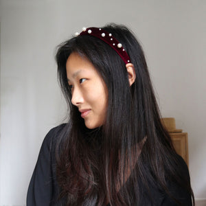 """Pearl on Mahogany"" Headband Kit"