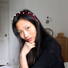 "Load image into Gallery viewer, ""Pearl on Mahogany"" Headband Kit"